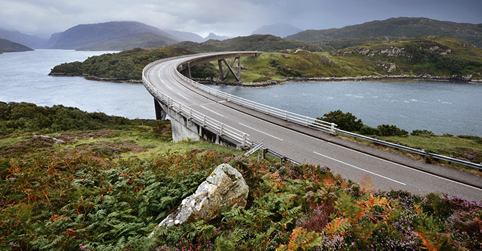 Kylesku bridge Sutherland Scotland photo tour