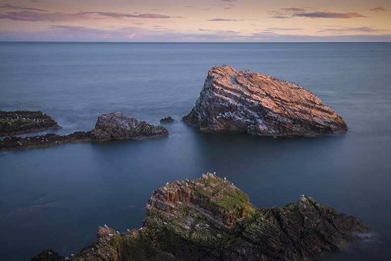 Portknockie rocks along the Moray Coast scotland photo tour