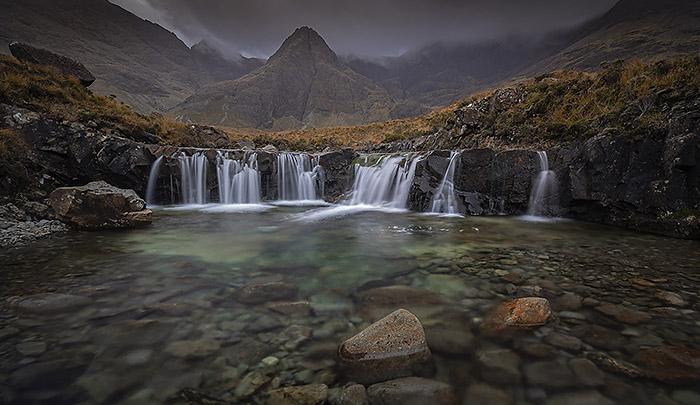Fairy Pools top cascade